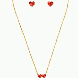 Kate Spade NWT Yours Truly Studs and Mini Pendant